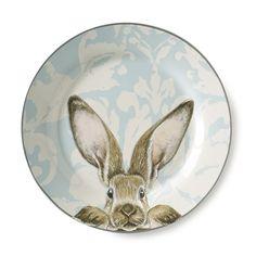 Damask Bunny Dinner Plates, Set of 4 #williamssonoma
