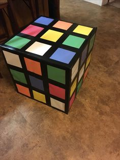 Maker fun factory vbs 2017, rubix cube, 20inch box, 6inch construction paper squares, electric tape