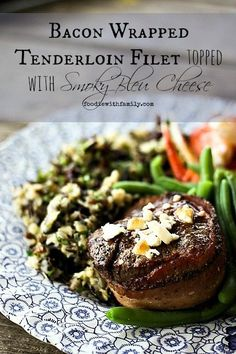 Meltingly tender, marvelously flavourful, Bacon Wrapped Tenderloin Filets topped with Smoky Bleu Cheese are just what you need for a special occasion. Don't be intimidated, they're so easy to make!
