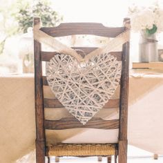 Grey Willow Hanging Heart Large Wedding Decoration, Chair Back, Hanging Heart - The Wedding of My Dreams #theweddingofmydreams @The Wedding of my Dreams