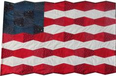Cut perfect fabric tumbler shapes every time with @AccuQuilt GO! Tumbler dies! Then make a Tumbler Patriotic Flag quilt!