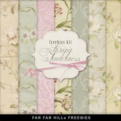 Freebies Kit - Spring Tenderness:Far Far Hill - Free database of digital illustrations and papers