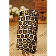 iPhone4 Polished Crystal Diamond Leopard Skin Cover...love