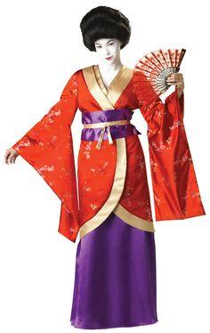 Premier Geisha Costume Gown - Japanese Geisha Costumes