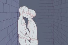 Yaoi is my life,Yaoi is my love — Ereri is my favorite OTP ever. <3 <3 << ITS VERY HIGH ON MY LIST GOSH WOW THIS GIF