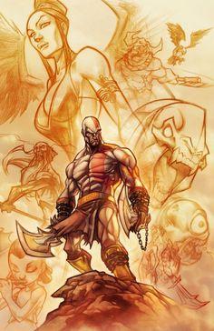 God of War . colors by thekidKaos.deviantart.com on @DeviantArt