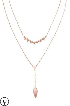 This versatile rose gold layering necklace can be worn many ways - from layered to a single strand, from sparkly to solid. Find layered necklaces at Stella & Dot.