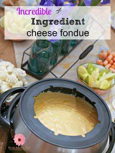 Super easy to make 4 ingredient cheese fondue recipe
