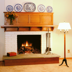 Free Plan for Arts & Crafts Mantel: This straightforward mantel project gracefully spans the divide between woodworking and homebuilding.