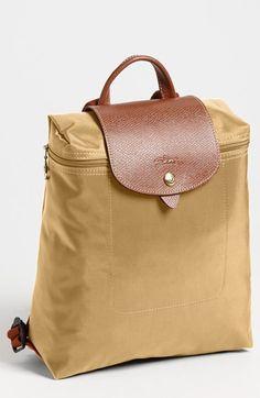 LONGCHAMP 'Le Pliage' Backpack. #longchamp #bags #leather #lining #nylon #backpacks #