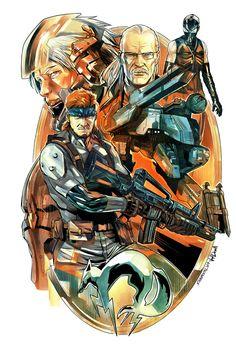 Metal Gear Solid Color by SergioSandoval.deviantart.com on @DeviantArt