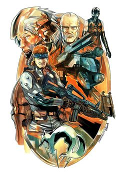 Metal Gear Solid Color by SergioSandoval.deviantart.com on @DeviantArt