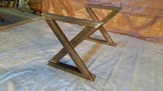 Farm table, steel base, Industrial table base, metal table base