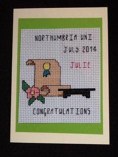 Lovely Handmade Cross Stitch Graduation by Zoescrossstitchcraft