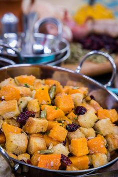 Butternut Squash Panzanella made by @cristinacooks! Tune into #homeandfamily weekdays at 10/9c on Hallmark Channel!