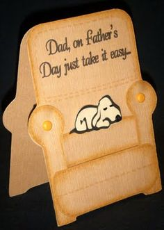 pictures of cards made using paper pups | Cards by CG: Father's Day Recliner Card
