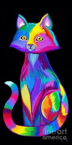 Rainbow Cat by Nick Gustafson