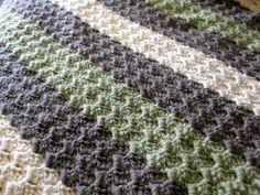 i like these crochet stripes :)