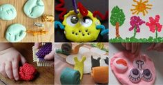 34 fun things to do with play dough when you can't come up with anything else to do with your kids.