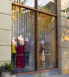 anthropologie storefront- corten steel window frames