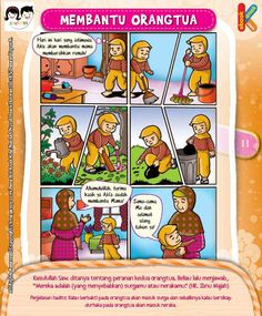 Karena Orangtua Kita Bisa Ke Surga atau Neraka Kids Story Books, Stories For Kids, Parenting Quotes, Kids And Parenting, Islam For Kids, Cartoon Jokes, Book Layout, Preschool Activities, Storytelling