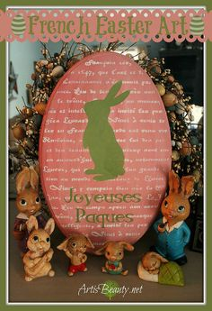 "French Easter Art Using ""Americana Decor CHALKY Finish"" Paint"