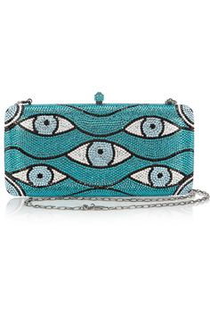 Sylvia Toledano's Swarovski studded Look box clutch