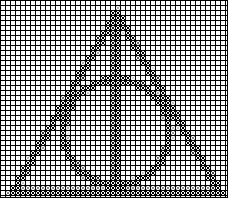 Deathly Hallows cross stitch by Rianelfe on DeviantArt Harry Potter Cross Stitch Pattern, Harry Potter Bracelet, Harry Potter Crochet, Cross Stitching, Cross Stitch Embroidery, Cross Stitch Patterns, Crochet Chart, Filet Crochet, Nerd Crafts