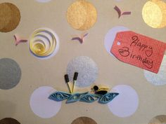Quilled Birthday Card by jgaCreations on Etsy, $3.00