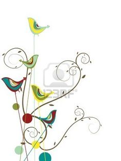 Colorful Summer Bird And Swirls - Illustration Royalty Free Cliparts, Vectors, And Stock Illustration. Image 2930583.