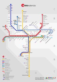 Mapa Metro Valencia 2015.174 Best Metro Maps Images In 2019 Metro Map Subway Map Map