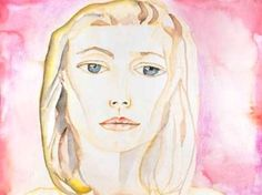 Francesco Clemente Italian Painter - this portrait of Gwyneth Paltrow for film Great Expectations.