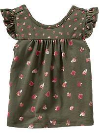 Flutter-Sleeve Tops for Baby