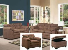 Acme Furniture - Lucille Velocity 3 Piece Living Room Set in Espresso - 50365-3SET