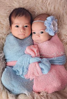 Set: Pink and Sky Blue Stretch Knit Wrap, Set of 2, newborn baby layer photography prop on Etsy, $21.00