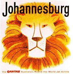 Qantas Johannesburg Airline Sticker BelAfrique - Your Personal Travel Planner www.belafrique.co.za