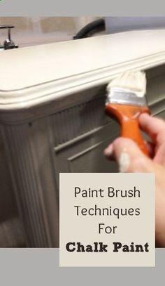 Paint Brush Techniques For Chalk Paint