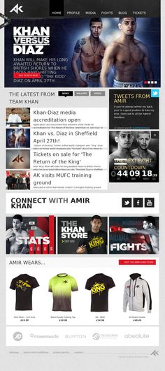 The website 'http://amirkhanworld.com/' courtesy of @Pinstamatic (http://pinstamatic.com)