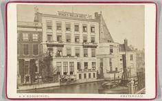 Brack's Doelen hotel gelegen aan de Nieuwe Doelenstraat Amsterdam, Andreas Theodorus Rooswinkel, 1867 - 1890