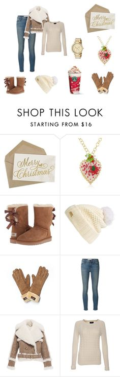 """""""Christmas style"""" by mivaldal on Polyvore featuring Dolci Gioie, UGG Australia, Burberry, Frame Denim, Lands' End and Michael Kors"""