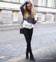 Diese modischen Overknees stylen dich perfekt durch den Winter  (Luana Silva) #schuhede #overknees #winter