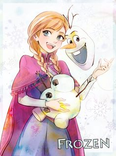 Frozen: Anna and Olaf by Penki Disney Pixar Movies, Film Disney, Disney Nerd, Cute Disney, Disney Girls, Disney And Dreamworks, Disney Magic, Frozen 2, Frozen Movie