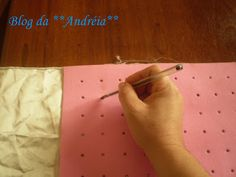 Blog da **Andréia**: Régua para marcar ponto capitone - ponto fofoca - casinha de abelha