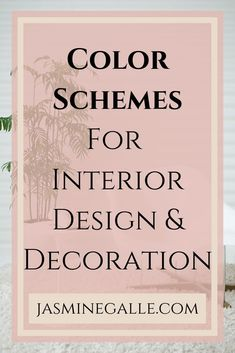 Color Schemes for Interior Design and decoration. Look for inspiration, design tips, color schemes, and more! #professionalinteriordesigner #colorfulinteriors #Colorfullivingrooms #colormylife #colorschemes #interiordesigntips #diydecorate #jasminegalle Interior Design Color Schemes, Interior Design Tips, Interior Colors, Beautiful Interiors, Colorful Interiors, Types Of Color Schemes, Color Combinations, Mirrored Wallpaper, Farmhouse Paint Colors