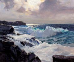 """Full of the Moon   """"To paint the sea, you must love it, and to love it, you must know the sea.""""   - Frederick Judd Waugh     The Roaring Fo..."""
