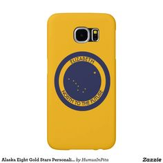 Alaska Eight Gold Stars Personalized Flag Samsung Galaxy S6 Cases