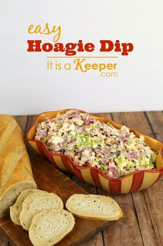 This easy Italian Hoagie Dip recipe is one of my family's all-time favorite recipes. It has everything that an Italian Hoagie has on it but it's chopped up and served as a dip. Every time I make it, it gets devoured! Finger Food Appetizers, Easy Appetizer Recipes, Yummy Appetizers, Dip Recipes, Cooking Recipes, Italian Appetizers Easy, Appetizer Dishes, Dinner Recipes, Pesto