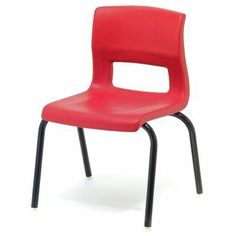 """ErgoStack 12"""" Plastic Classroom Chair [Set of 6] Seat Color: Red by McCourt Manufacturing. $203.94. 85000RD Seat Color: Red Features: -Zinc plated blind rivets attach seat to base frame.-Sold in quantities of 6.-Bends are precision controlled.-Legs fully welded to base frame.-Injection molded, industrial quality nylon swivel glides.-Injection molded plastic bumpers adjust chair pitch to stack 10-12 chairs high.-Available in seat heights of 12"""" , 14"""", 16"""" and 18"""" for prop... Kitchen Desks, Kitchen Furniture, Kids Furniture, Classroom Chair, Plastic Injection Molding, Desk Chairs, 6 Years, Color Red, Home Kitchens"""