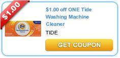$1.00 off ONE Tide Washing Machine Cleaner