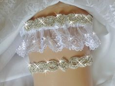 A personal favorite from my Etsy shop https://www.etsy.com/listing/462023237/white-french-lace-wedding-garter-set